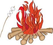 fuoco di accampamento illustrazione vettoriale