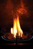 Fuoco di gas dalla fornace Fotografia Stock Libera da Diritti