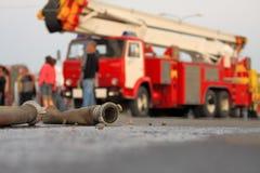 fuoco di motore Fotografie Stock