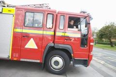 fuoco di motore che lascia stazione Immagini Stock