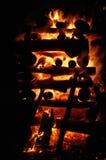 Fuoco di notte di Natale Fotografie Stock