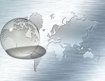 Fuoco di vetro America del Nord della sfera Immagine Stock