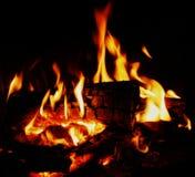 Fuoco e fiamma di calore Fotografie Stock