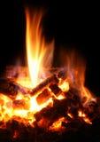 Fuoco e fiamma di calore Fotografie Stock Libere da Diritti