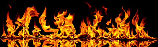 Fuoco e fiamme illustrazione vettoriale