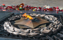 Fuoco eterno sul memoriale Immagini Stock Libere da Diritti
