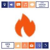 Fuoco, fiamma - logo di semitono Immagini Stock