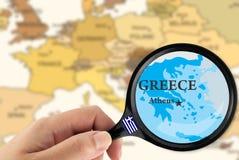 Fuoco in Grecia Fotografie Stock Libere da Diritti