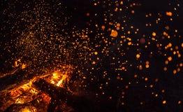 Fuoco magico Fotografie Stock