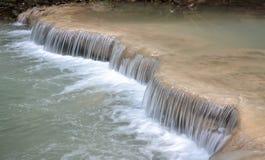 Fuoco molle di caduta dell'acqua Fotografie Stock
