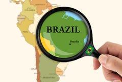 Fuoco nel Brasile Fotografia Stock