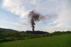 Fuoco nel legno slovakia fotografia stock libera da diritti