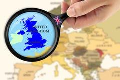Fuoco nel Regno Unito Immagini Stock