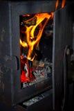 Fuoco nella fornace Fotografia Stock Libera da Diritti