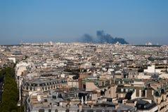 Fuoco a Parigi, 9 settembre 2012 Fotografia Stock Libera da Diritti