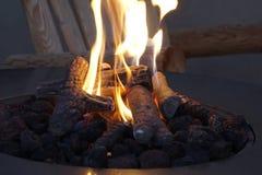 Fuoco Pit Flames fotografia stock