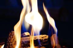 Fuoco Pit Flames Fotografie Stock