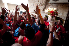 Fuoco santo a Gerusalemme Fotografia Stock
