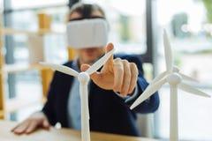 Fuoco selettivo dei modelli della turbina di eco Fotografia Stock