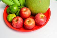 Fuoco selettivo delle mele rosse Fotografie Stock