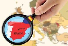 Fuoco in Spagna Immagine Stock Libera da Diritti