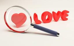 Fuoco su amore fotografia stock libera da diritti