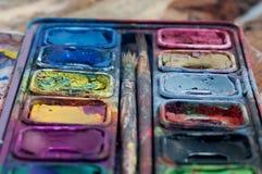 Fuoco su colore e su struttura immagine stock