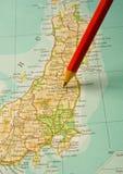 Fuoco su Fukishima Giappone. Immagini Stock