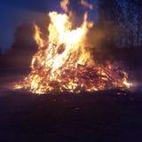 Fuoco su fuoco Fotografie Stock Libere da Diritti