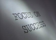 Fuoco su successo Immagini Stock