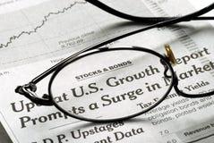 Fuoco su sviluppo degli Stati Uniti nell'economia Fotografie Stock Libere da Diritti