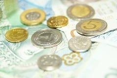 Fuoco su uno zloty Fotografia Stock Libera da Diritti