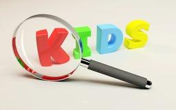 Fuoco sui bambini Fotografia Stock Libera da Diritti