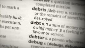 Fuoco sul debito video d archivio