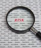 Fuoco sul rischio: paga assicurare. Fotografie Stock