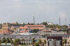 Fuoco sull'impianto offshore del Curacao Fotografia Stock