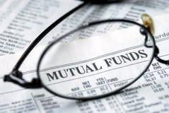 Fuoco sull'investimento del fondo di investimento mutualistico Fotografia Stock