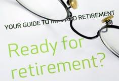 Fuoco sull'investimento nel piano pensionistico Fotografia Stock Libera da Diritti