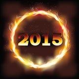 Fuoco un fondo da 2015 nuovi anni Fotografia Stock