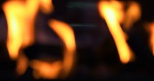 Fuoco vago del BBQ video d archivio