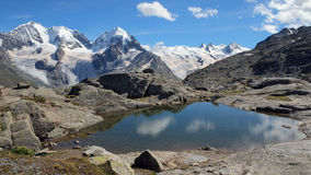 Fuorcla Surlej in summer, August 2014 (Engadin, Graubunden, Switzerland) Stock Photography