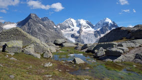 Fuorcla Surlej in summer, August 2014 (Engadin, Graubunden, Switzerland) Royalty Free Stock Photography