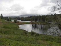 Fuori dal lago battuto Cumbrian della pista Fotografie Stock Libere da Diritti