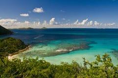 Fuori dal litorale dell'isola BVI di Gorda del Virgin Immagine Stock