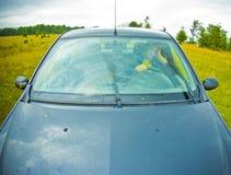Fuori dall'automobile della strada Immagini Stock Libere da Diritti