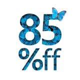 85% fuori dallo sconto Il concetto della molla o della vendita del sammer, manifesto alla moda, insegna, promozione, annunci Illustrazione di Stock
