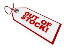 Fuori - dell'etichetta di riserva illustrazione di stock