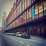 Fuori della centrale Trainstation di Anversa Fotografie Stock Libere da Diritti
