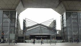 Fuori di grande vista di Tokyo, a centro di convenzione orientato a mostra stock footage