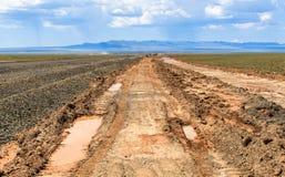 Fuori strada in Mongolia immagine stock libera da diritti